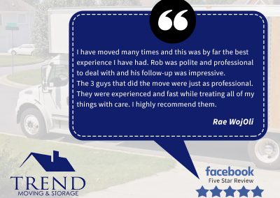 This is a review from Rae, who describes her experience with our NH moving team. This was for moving services in Manchester to Concord.